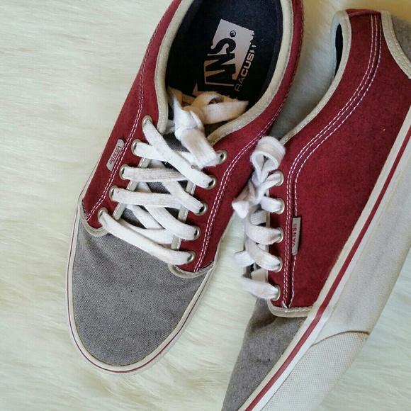 4211afb1ca Vans Chukka Low Massimo Cavedoni Grey Red Shoes. M 5b140743e944ba3fd5aa5b1b